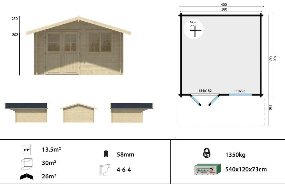 Stian Log Cabin Spec