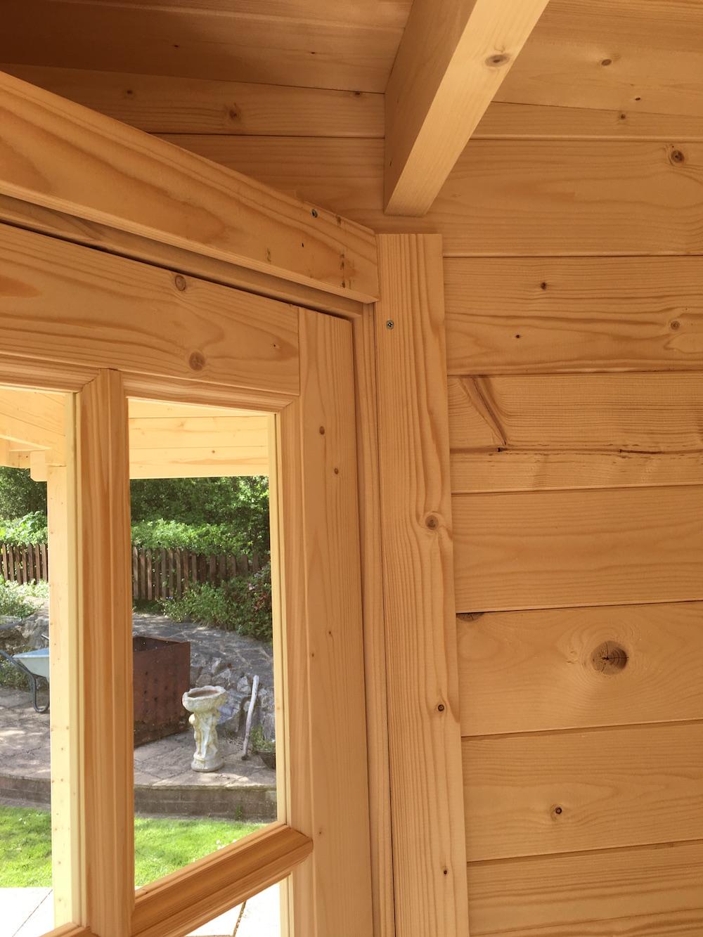 Inside the stig log cabin