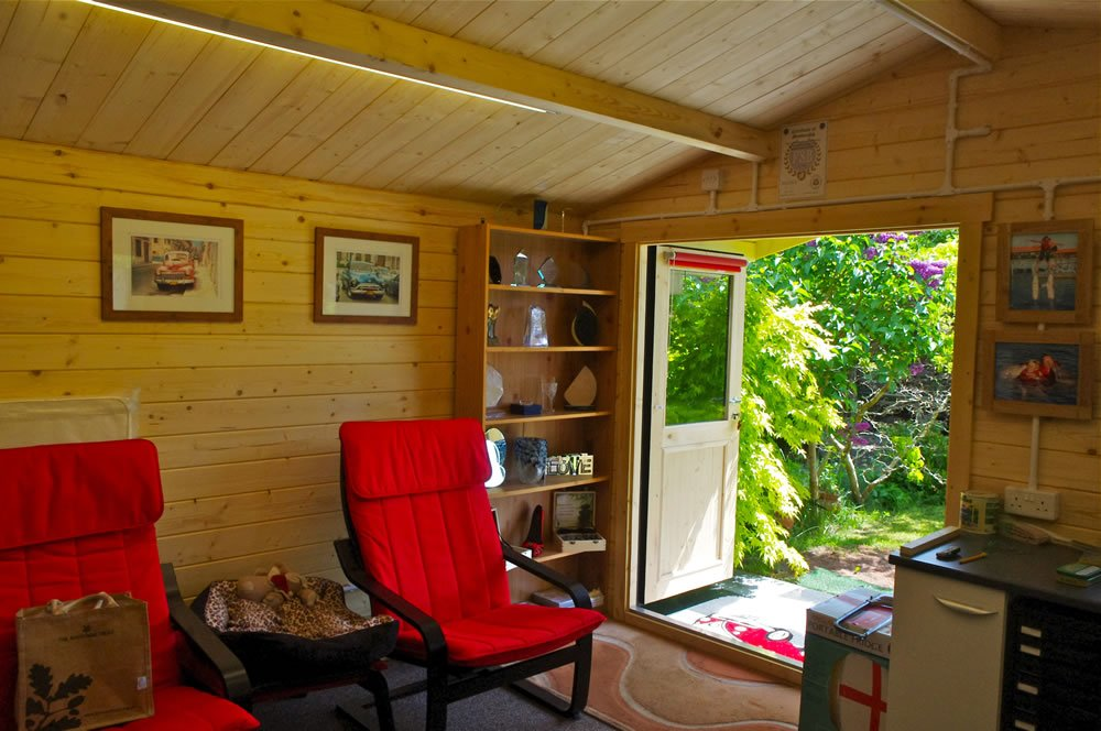 Stian  log cabin, inside view, pictures courtesy of Mr and Mrs Robinson