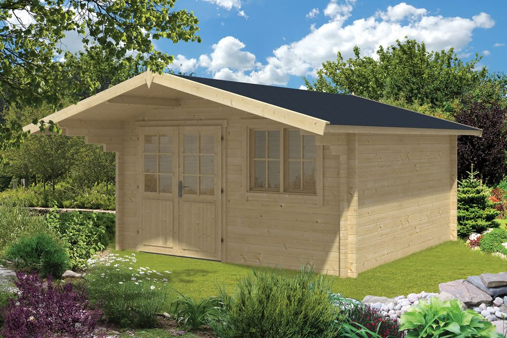 Stian log cabin 4x4 in 58mm thick logs