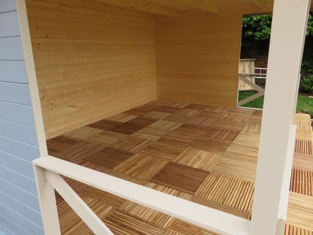 Subaya hardwood decking tiles