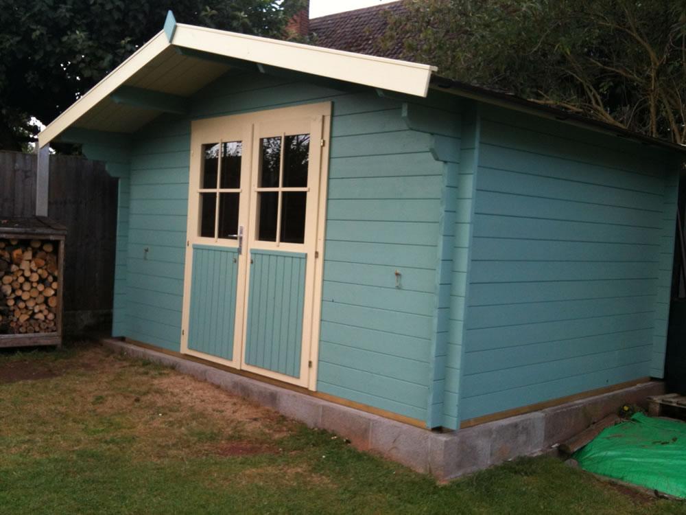Summertime Log Cabin