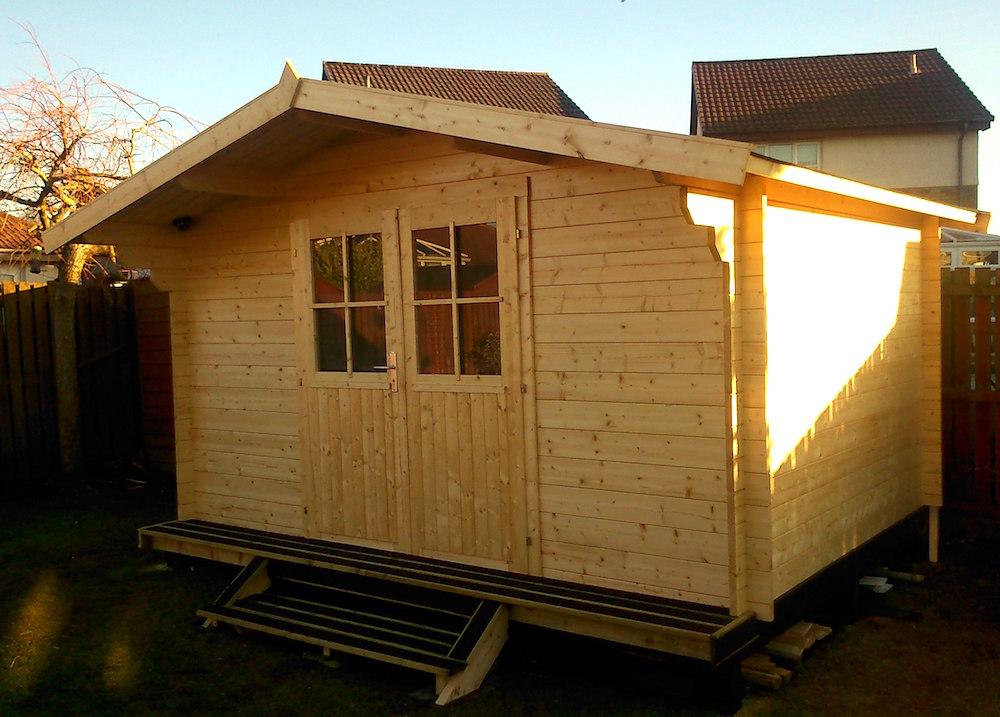 Summertime 34mm log cabin
