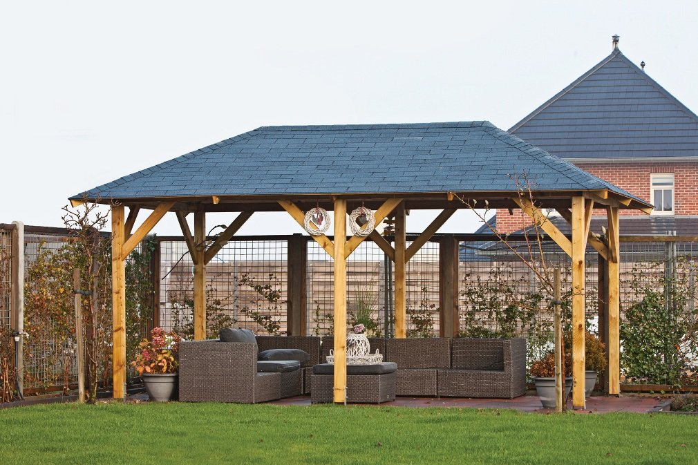 Superior Wooden Gazebo 3 4x5 9m