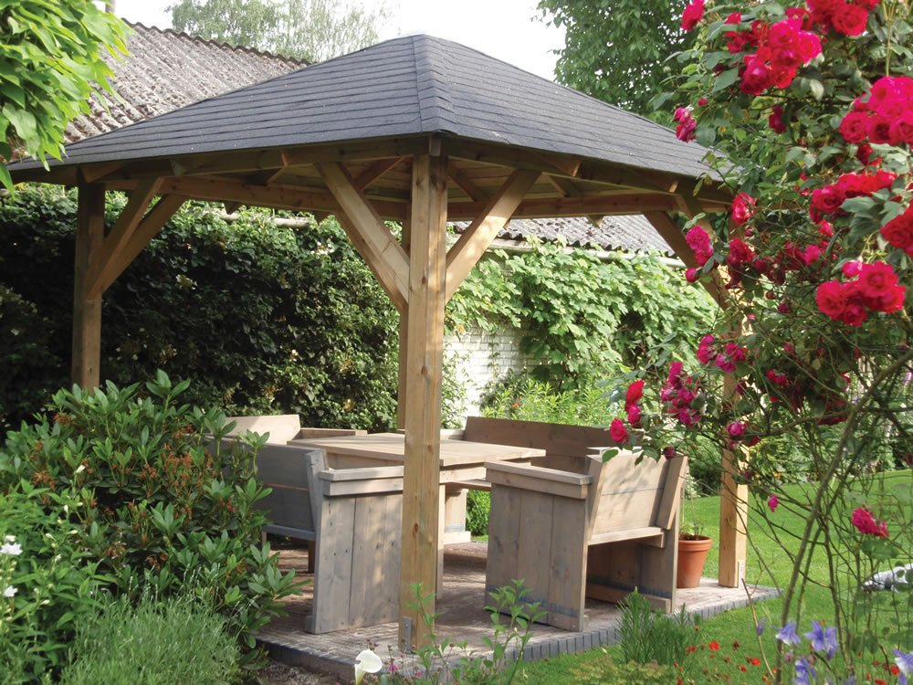 Tourist open gazebo