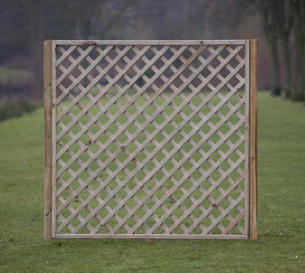 Diagonal trellis with frame 180cm