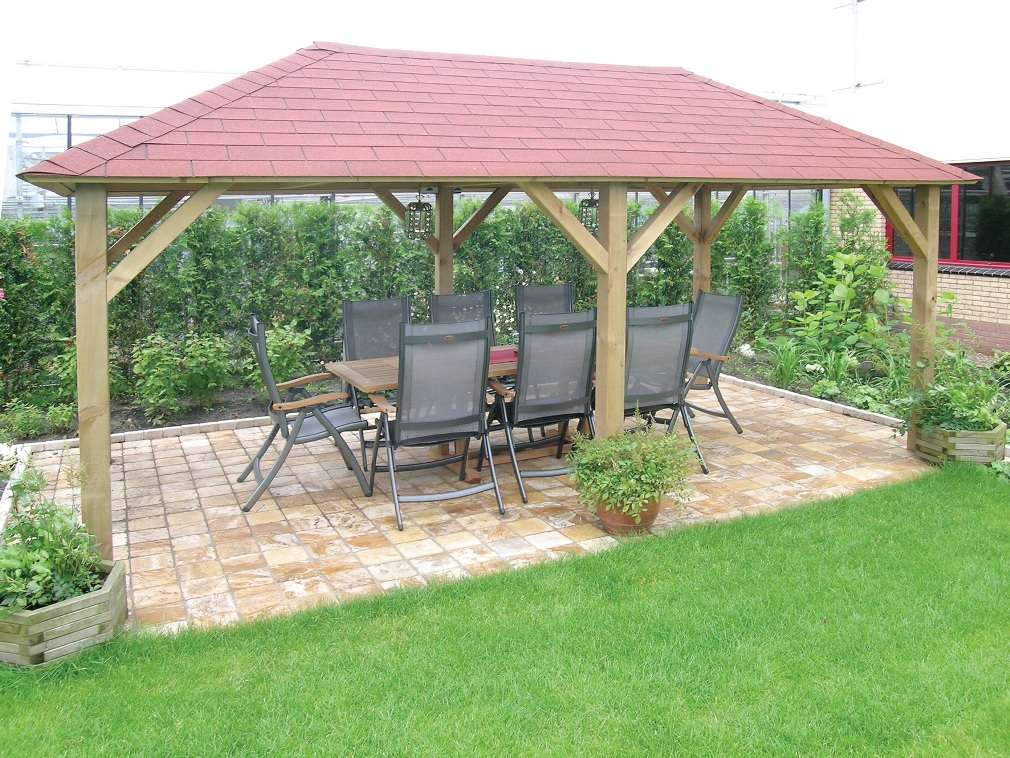 Ultimo large wood gazebo for Large wooden gazebos