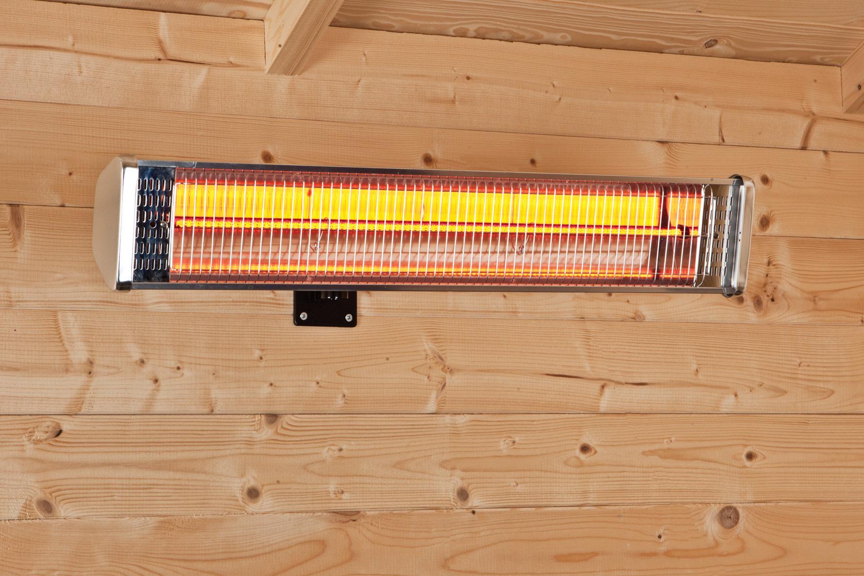 Wall mounted garden building heater