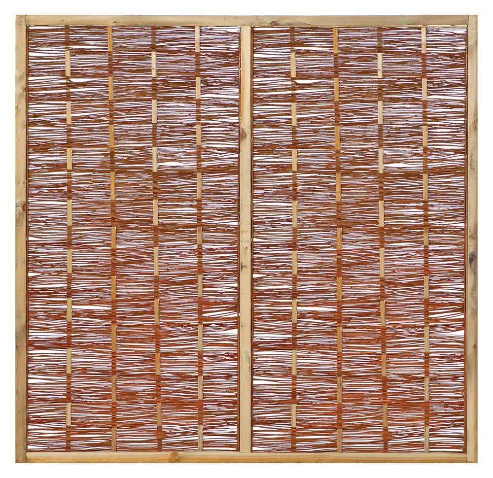Willow fence panel