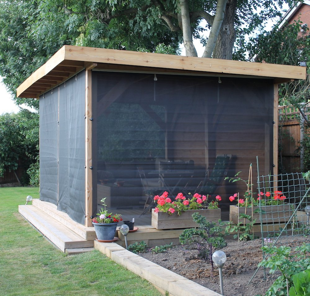 Roll up wall for gazebos - Tent tuin pergola ...