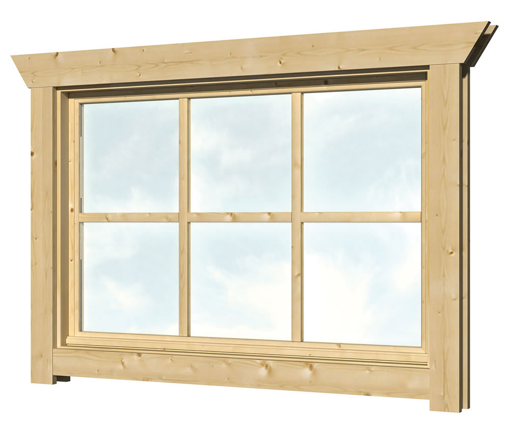 40.2001 Top hinged Window - W2 - W112cm x H77cm