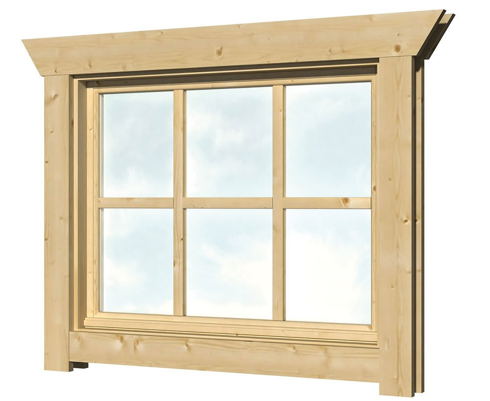 40.2002 Top hinged Window - W3 - W85cm x H68cm