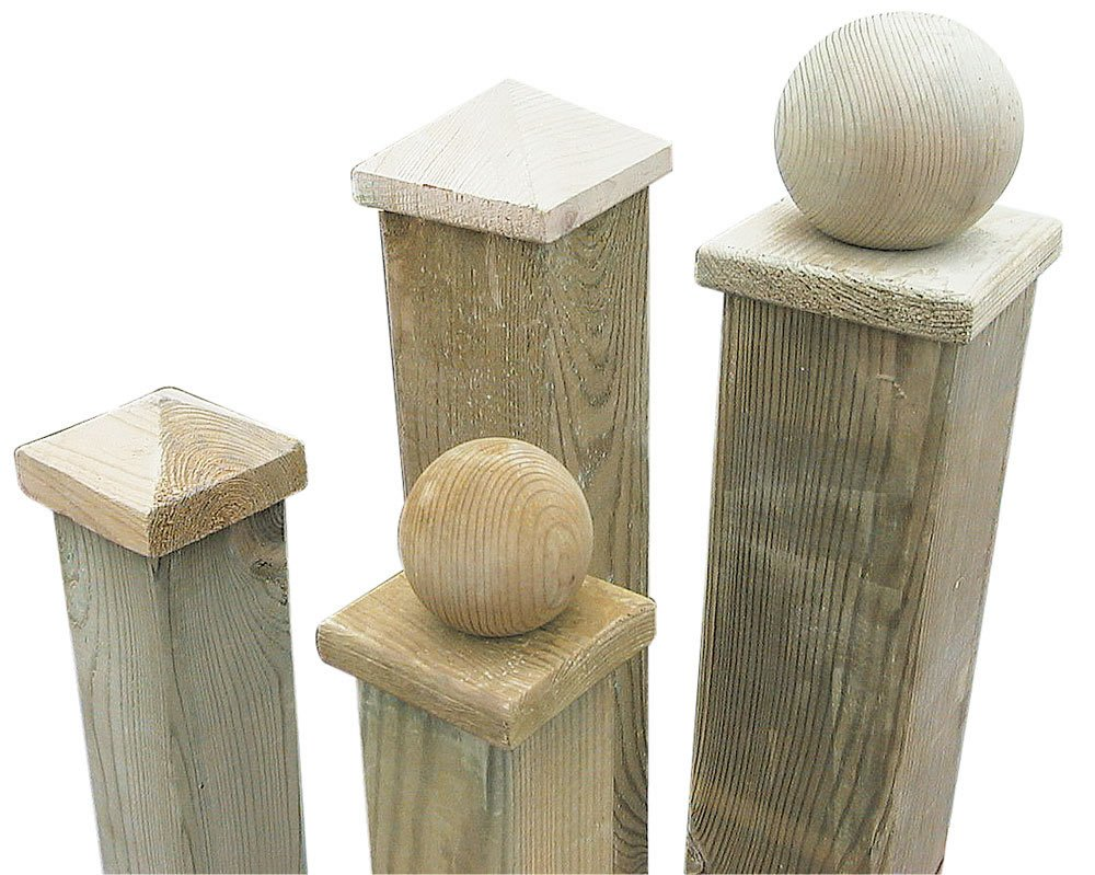 Wooden fence post caps