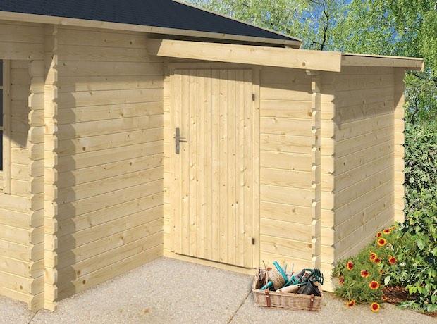 28mm Log Cabin Storage Annexe 1.6x2.2m