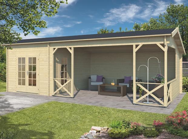 Avon Log Cabin Gazebo 8x4m