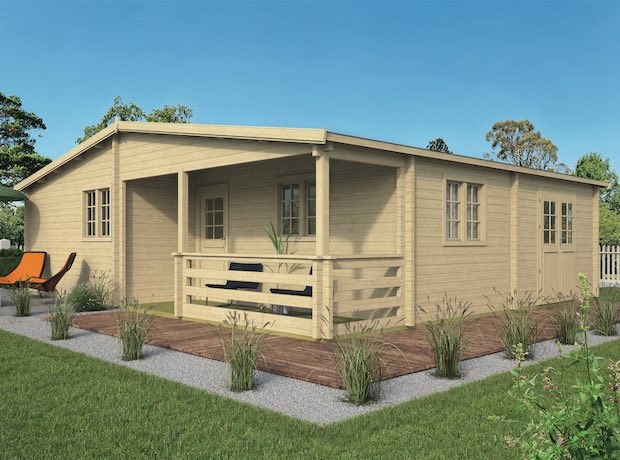 Azores log Cabin 9.41 x 8.48m