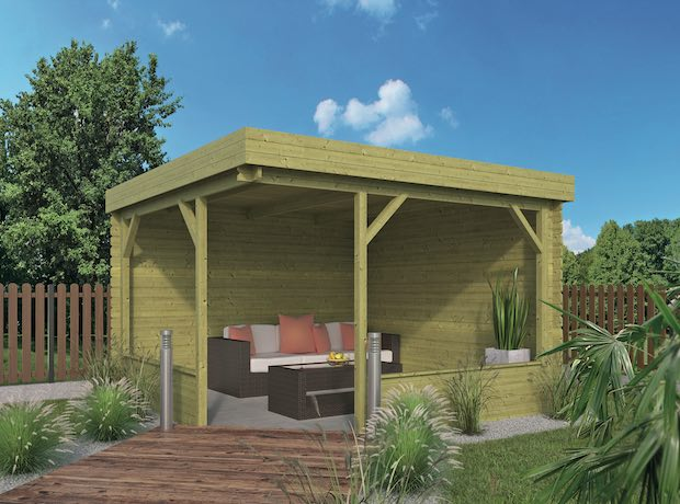 Barbara Log Cabin Gazebo 3.5 x 3.5m