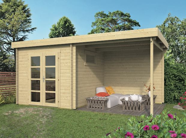Brenda Log Cabin with Canopy 5.25 x 2.75m