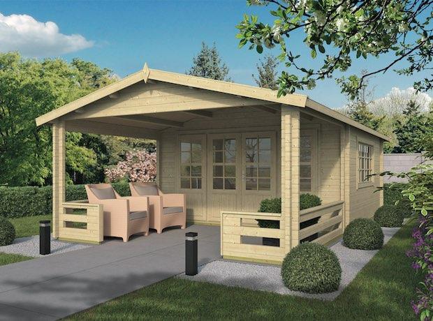 Bristol Log Cabin 4.4 x 3.4m with 3m Veranda