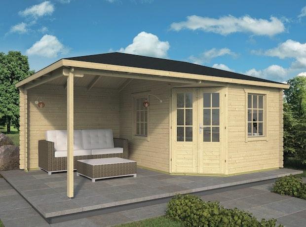 Christoffer Log Cabin With Side Porch 5.75 x 3.50m