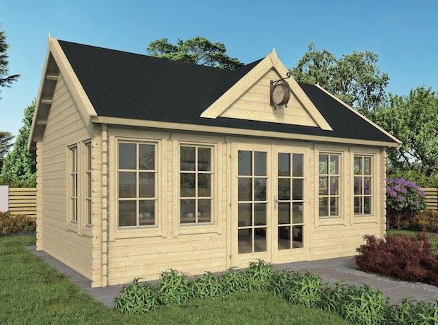 Clockhouse Log Cabin 5.5x4m - Double Glazed