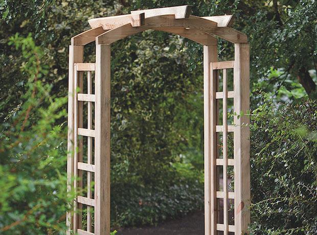 Curved Trellis Garden Arch