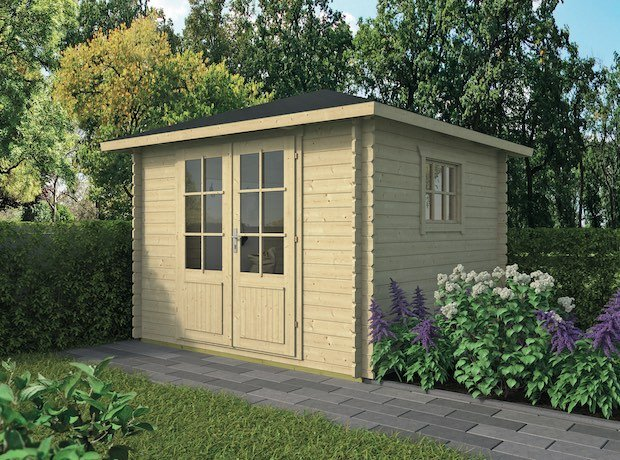 Halvar Pyramid Roof Log Cabin 3x3m