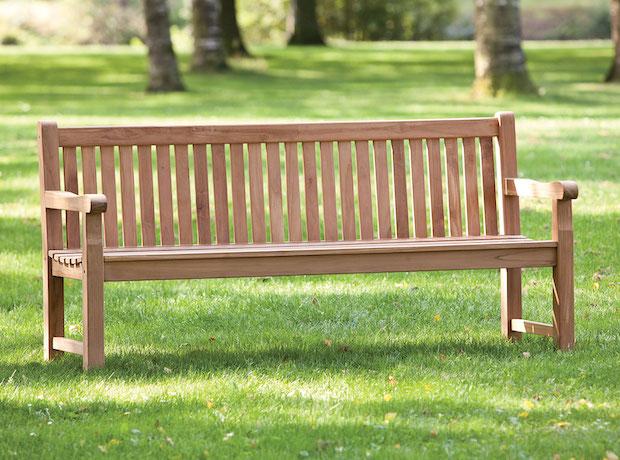 Strange Heavy Duty Garden Park Teak Bench 180Cm Customarchery Wood Chair Design Ideas Customarcherynet