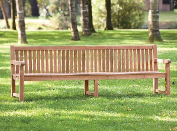Fantastic Heavy Duty Garden Park Teak Bench 250Cm Customarchery Wood Chair Design Ideas Customarcherynet