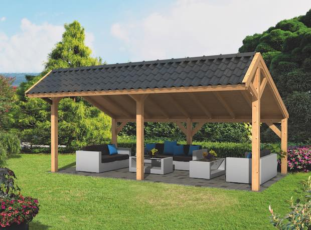 Larch Asymmetrical Apex Garden Building Type One