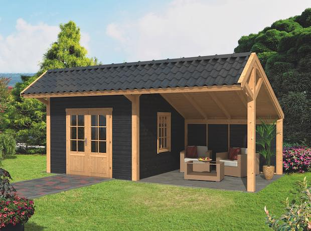 Larch Asymmetrical Apex Garden Building Type Three