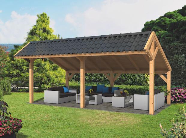 Modular Larch Asymmetrical Apex Garden Building Components