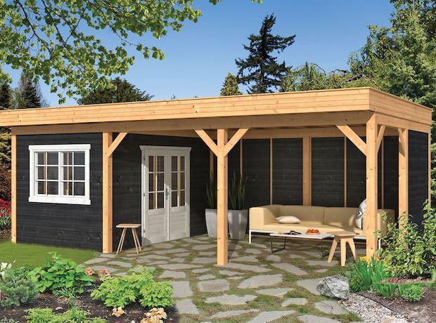 Modular Larch Pent Garden Components