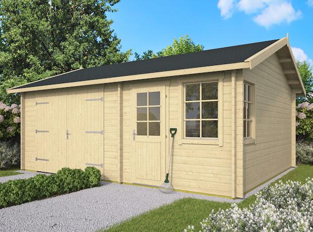 Moa 45mm Log Cabin Garage 5x6m