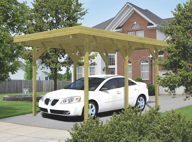 Single Lean To Or Freestanding Timber Carport