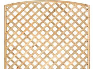 Arched Framed Diagonal Trellis 180