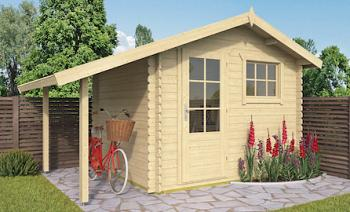 Lars Log Cabin 3x2.6m with Log Store