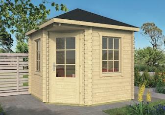 Daniel Corner Log Cabin 2.6x2.6m
