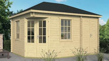 Sigrid Log Cabin With Shed Annexe 3x4.4m