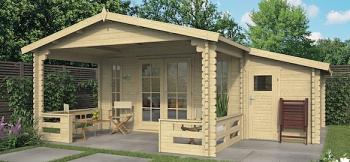 Erke Log Cabin 5.85x5.3m