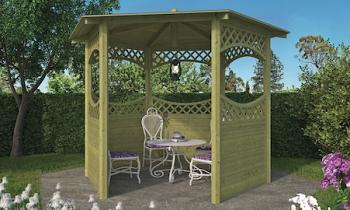 Curved Lattice Gazebo 2.9m Diameter