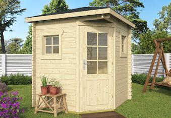 Petit Corner Log Cabin 2x2m