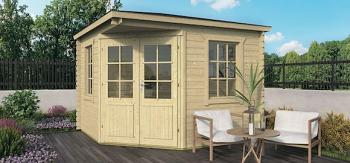 Asmund Corner Log Cabin 3x3m 28mm logs - 2.5m Height