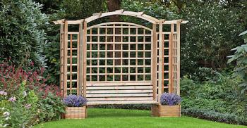 Trellis Arbour With Planters