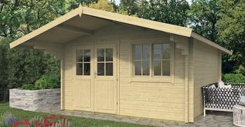 Stian Log Cabin 4 x 4m in 58mm logs - Double Glazed