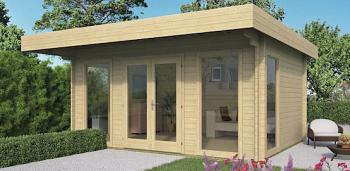 Garden Office Log Cabin - Yorick 5x3.8m