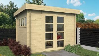 Bodine Flat Roof Log Cabin 3.0 x 3.0m