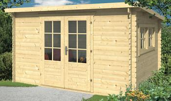 Loya Pent Roof Log Cabin 3.8 x 3m