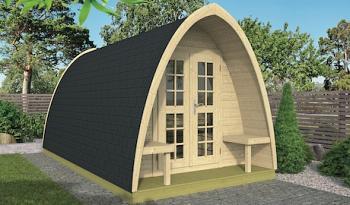 Log Cabin Camping Pod 2.33m x 4m - Double Glazed