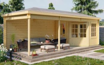 Bertil Log Cabin Gazebo 7.9 x 3.0m